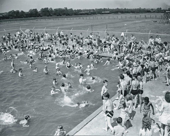 Silverwoods pool June 29 1949 590